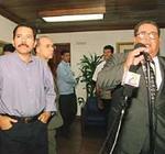 Daniel Ortega (izquierda) y Arnoldo Alemán.