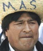 El líderl del Movimiento al Socialismo (MAS), Evo Morales.