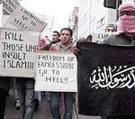 Manifestación de fanáticos islamistas en Londres, el pasado viernes.
