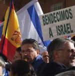 Detalle de la concentración proisraelí en Madrid el pasado viernes.