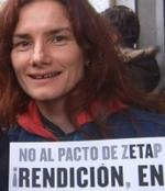 María Blanco (<i>Meri White</i>), en la manifestación del 3F.
