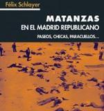 Detalle de la portada de MATANZAS EN EL MADRID REPUBLICANO.