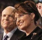 John McCain y Sarah Palin.