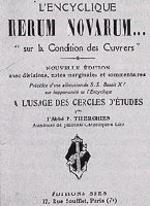 Una edición en lengua francesa de la encíclica RERUM NOVARUM.