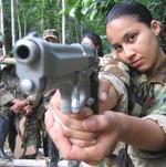 Una terrorista de las FARC.
