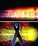 Cartel del vídeo de TRAS LA MASACRE, realizado por FAES.
