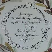 Invitación a la boda de Adriana Abascal