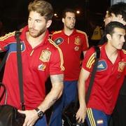 Llegada de la selección española al hotel de concentración en Recife. | EFE/Archivo