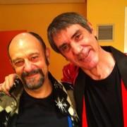 Javier Cansado, junto a su compañero Faemino | Twitter