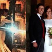 Un instante de la boda publicado en redes sociales