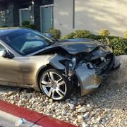 El coche de Santana tras el accidente | Cordon Press