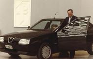 Sergio Pininfarina, con una de sus creaciones para Alfa Romeo | pininfarina.com
