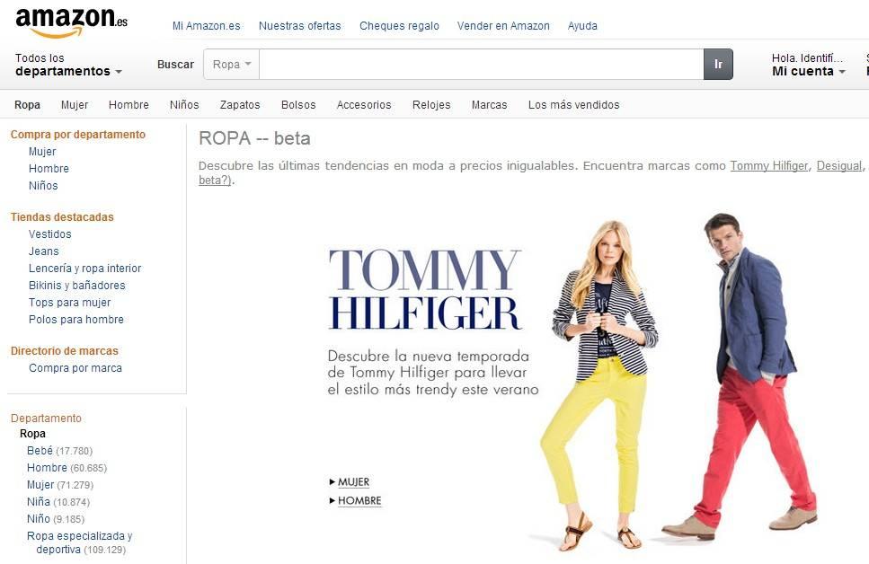9dff5a484832d Amazon estrena su tienda de moda en España- Libertad Digital