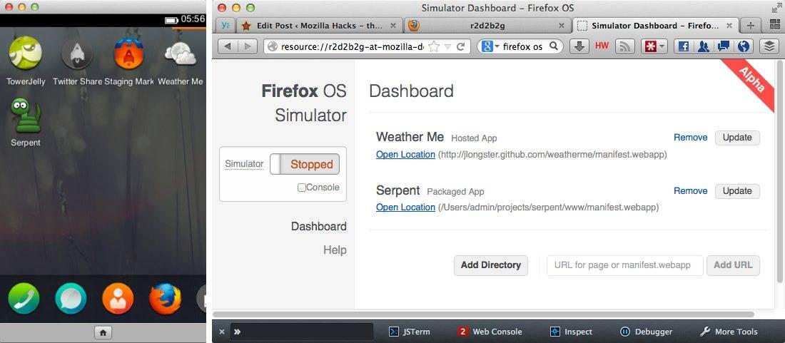 Ya se puede probar Firefox OS dentro de Firefox- Libertad
