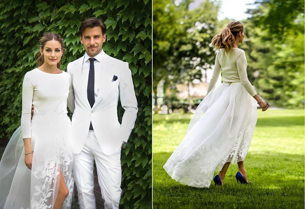 el llamativo vestido de novia de olivia palermo- chic