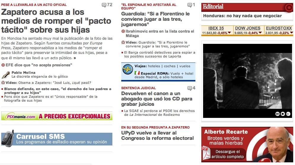 Zapatero Se Enfada Con Los Medios De Comunicación Por La Foto De Sus Hijas Libertad Digital