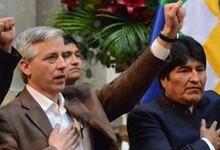 Morales y su Gobierno durante la expropiación de REE   Archivo