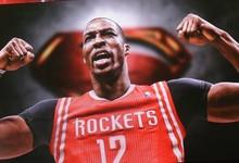 Vista de un cartel del nuevo jugador de los Rockets,  Dwight Howard.   EFE