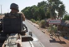 Tanques franceses a su paso por Markala, en la región de Segou.   Defense.gouv.fr