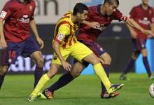 El jugador del Barcelona Pedro disputa un balón. | Cordon Press