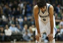 Ricky Rubio, en un partido de los Timberwolves | Cordon Press