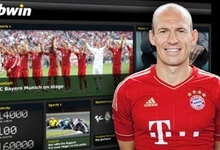 Arjen Robben, durante la entrevista a Bwin.