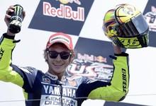 Valentino Rossi, en el podio de Laguna Seca | EFE