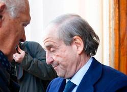 José María García durante el funeral de su amigo Marcos Alonso el pasado año | Cordon Press
