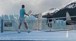 Nadal y Djokovic, en el glaciar Perito Moreno. | EFE
