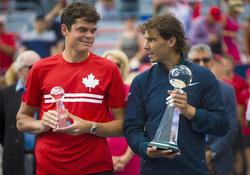 Rafa Nadal y Milos Raonic, tras la final de Montreal | Cordon Press