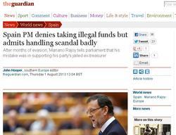 La noticia de Rajoy en The Guardian