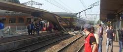 Vista del tren siniestrado | Twitter