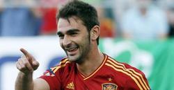 Adrián celebra su gol ante Serbia. | EFE
