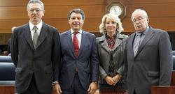 Gallardón, González, Aguirre y Leguina (de iqd. a dcha)   EFE
