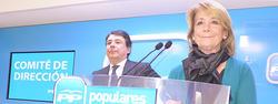 Aguirre e Ignacio González, en un momento de la rueda de prensa | LD