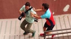 Fotografía aportada por el fotógrafo para demostrar la agresión. |@jmartin_ibz