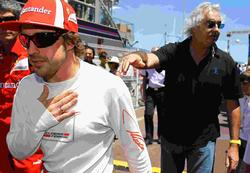 Fernando Alonso y Flavio Briatore. | Cordon Press