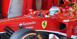 Fernando Alonso, con el F138 en el circuito de Montmeló. | Cordon Press