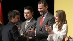 Los Príncipes de Asturias presidieron la ceremonia de entrega de las acreditaciones.   EFE