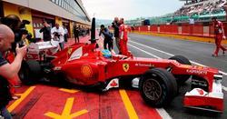 Fernando Alonso, con el F2012 en Mugello.   EFE