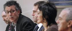 Errekondo, junto a diputados Larreina, Iñarritu, Ariztegui y Sabino-Cuadra. | EFE