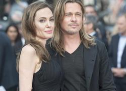 Angelina Jolie y Brad Pitt, este domingo, en Londres. | EFE