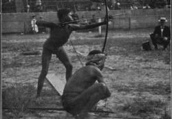 Imagen durante la celebración de los Juegos Antropológicos.