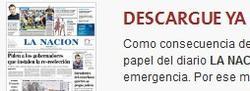 Anuncio de este domingo en La Nación.