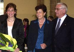 Arantxa Sánchez Vicario con sus padres en una imagen de 2003 | Cordon Press