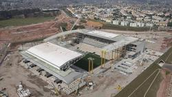 Vista aérea del Arena Corinthians de Sao Paulo. | EFE