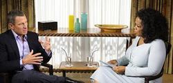 Lance Armstrong, durante la entrevista con Oprah. | EFE