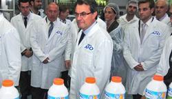 Artur Mas, en la fábrica que pasó el pasado fin de semana