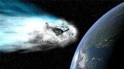 Montaje de la aproximación de un asteroide con la Tierra.   NASA