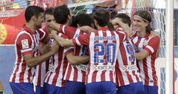 Los jugadores del Atlético celebran un gol. | EFE